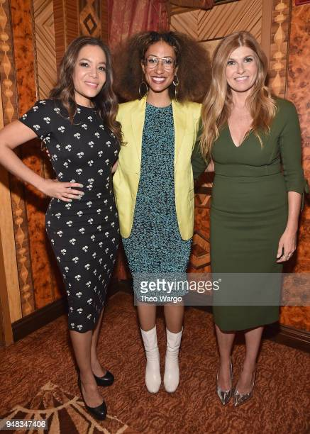 Sunny Hostin Elaine Welteroth and Connie Britton attend the Biden Courage Awards Presented by It's On Us at the Russian Tea Room on April 18 2018 in...