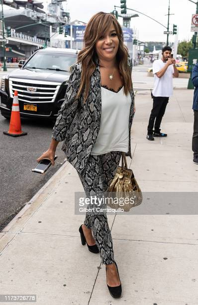 Sunny Hostin is seen arriving to S by Serena Williams Fashion Show during New York Fashion Week on September 10 2019 in New York City