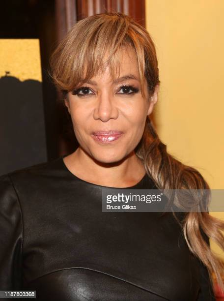 Sunny Hostin poses at the celebration for the North of 40 Podcast Launch at Dapper Dan Atelier on November 14 2019 in New York City