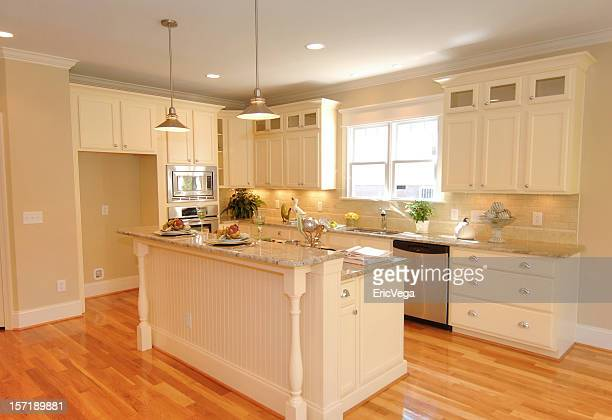 sunny kitchen - nook architecture stock pictures, royalty-free photos & images