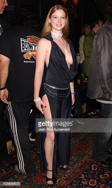 Sunny Lane from the Moonlite BunnyRanch during Andy Kaufman Dead or Alive Tribute at House Of Blues in West Hollywood California United States