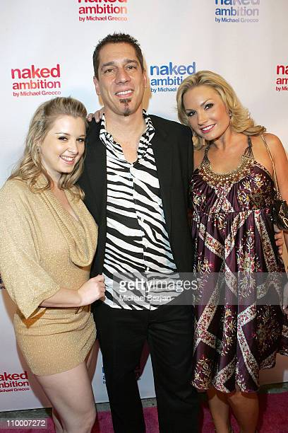 Sunny Lane, Michael Grecco and Flower Tucci attend the Naked Ambition Book Launch on September 25, 2007 in Beverly Hills California.