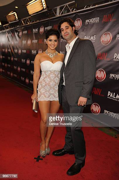 Sunny Leon arrives at the 2010 AVN Awards at the Pearl at The Palms Casino Resort on January 9 2010 in Las Vegas Nevada