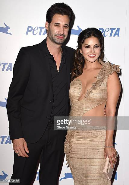 Sunny Leone arrives at the PETA's 35th Anniversary Party at Hollywood Palladium on September 30 2015 in Los Angeles California