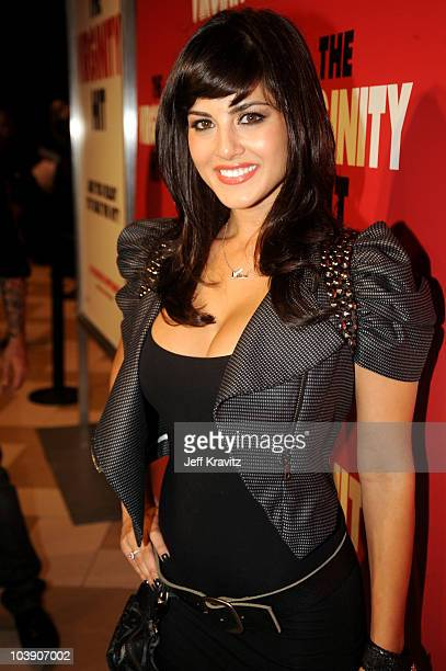 Sunny Leone attends special KROQ screening of Columbia Pictures 'The Virginity Hit' at Regal 14 at LA Live Downtown on September 7 2010 in Los...