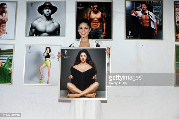 Sunny Leone attends the 21st limited-edition 2020 Dabboo Ratnani's Calendar on February 17, 2020 in Mumbai, India