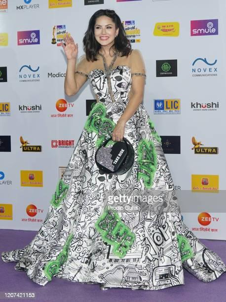 Sunny Leone attends the Mirchi Music Awards 2020 on February 19, 2020 in Mumbai, India.