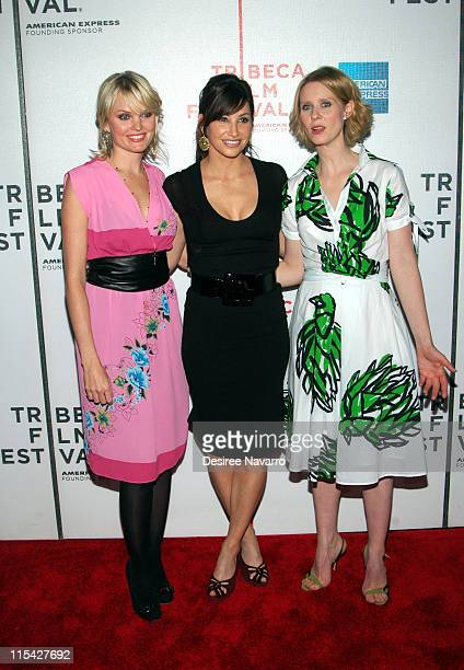 Sunny Mabrey Gina Gershon and Cynthia Nixon during 5th Annual Tribeca Film Festival One Last Thing Premiere Arrivals at AMC Loews Lincoln Square in...