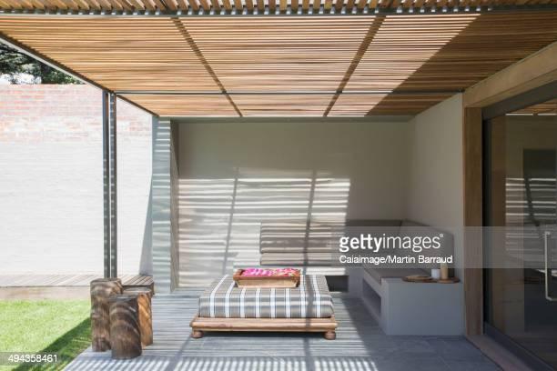 Sunny modern patio