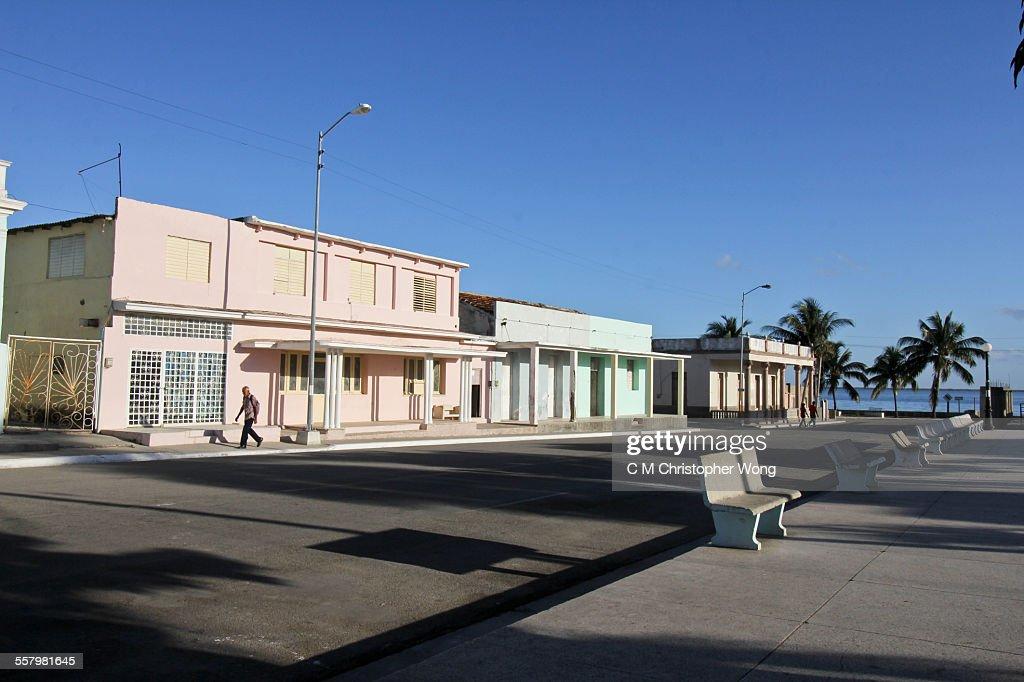 Sunny morning in Puerto Padre : Stock-Foto
