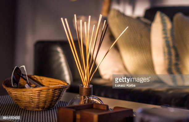 sunny morning - incense stock photos and pictures