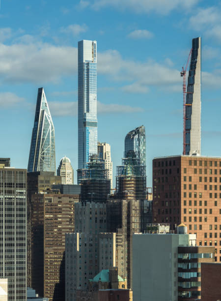 Sunny Morning View of Billionaires' Row in New York