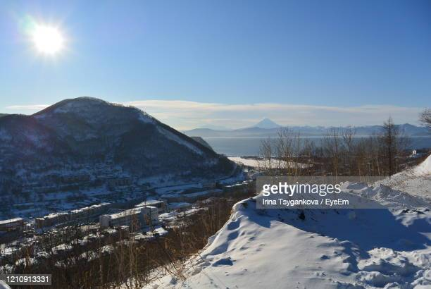 sunny mountain landscape in kamchatka - summits russia 2015 stock pictures, royalty-free photos & images