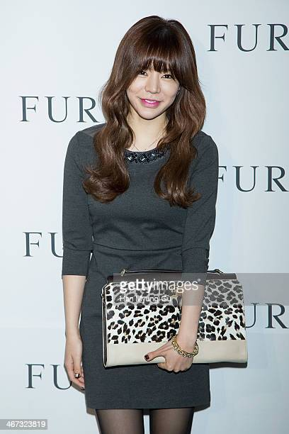 Sunny of South Korean girl group Girls' Generation attends FURLA S/S 2014 Collection at Cais Gallery on February 6 2014 in Seoul South Korea