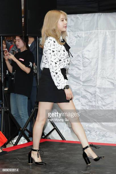 Sunny of South Korean girl group Girls' Generation attends the photocall for CASIO 'G-SHOCK' at the Starfield Hanam on April 16, 2017 in Hanam, South...