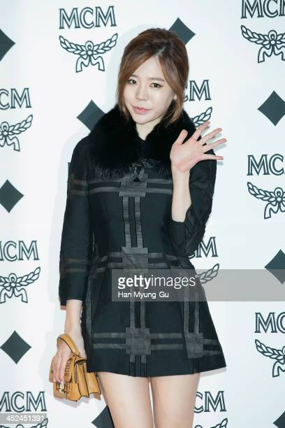 Sunny of South Korean girl group Girls' Generation attends the MCM S/S 2014 Seoul Fashion Show at Lotte Hotel on November 26 2013 in Seoul South Korea
