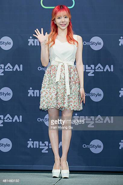 """Sunny of South Korean girl group Girls' Generation attends the OnStyle """"Channel SNSD"""" Press Conference at Imperial Palace Hotel on July 21, 2015 in..."""
