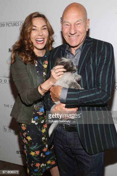 Sunny Ozell and Patrick Stewart attend The Cinema Society With Hard Rock Hotel Casino Atlantic City And North Shore Animal League America Host A...