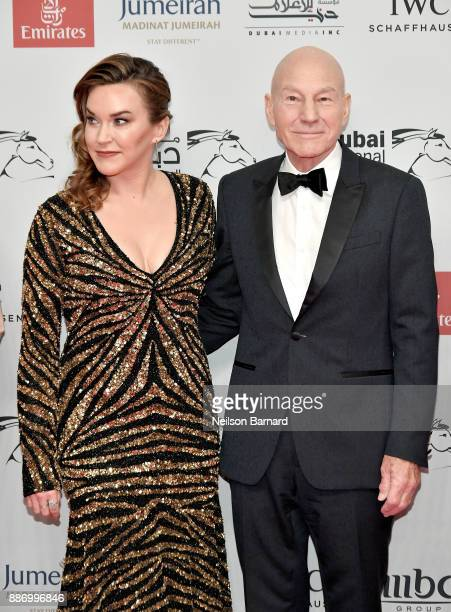 Sunny Ozell and Sir Patrick Stewart attends the Opening Night Gala of the 14th annual Dubai International Film Festival held at the Madinat Jumeriah...