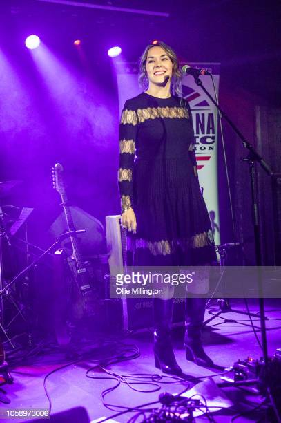 Sunny Ozell performs a surprise set onstage at the launch of AmericanaFest UK at The Borderline on November 7, 2018 in London, England.