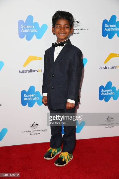 Sunny Pawar attends Screen Australia and Australians In Film reception for Australian Oscar Nominees at Four Seasons Hotel Los Angeles at Beverly...
