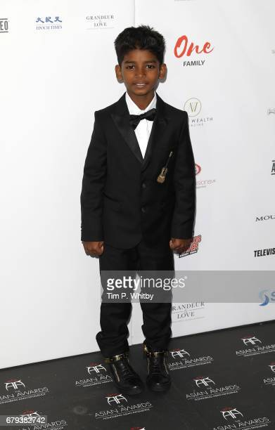 Sunny Pawar attends The Asian Awards at Hilton Park Lane on May 5 2017 in London England
