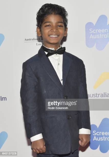 Sunny Pawar attends the Screen Australia and Australians in Film reception for Australian Oscar nominees at Four Seasons Hotel Los Angeles at Beverly...