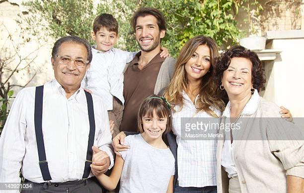 Sunny Portrait of Classic, Italian Family