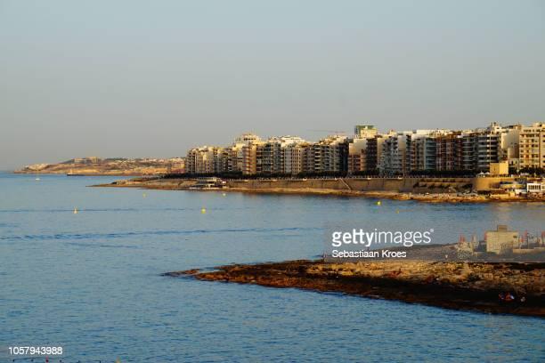 Sunny Sliema at Dusk, Coastline, Sliema, Malta