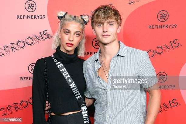 Sunny Soofiani and Hart Denton attend Refinery29's 29Rooms Opening Night on September 5 2018 in Brooklyn New York