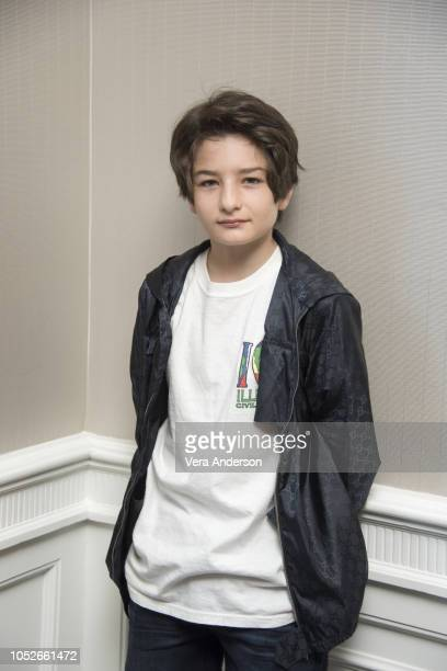 Sunny Suljic at the Mid90s Press Conference at the London Hotel on October 19 2018 in West Hollywood California