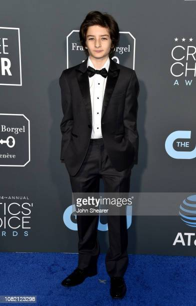 Sunny Suljic attends the 24th Annual Critics' Choice Awards at Barker Hangar on January 13 2019 in Santa Monica California
