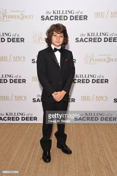 Sunny Suljic attends the official after party for The Killing of a Sacred Deer at the Nikki Beach popup during the 70th annual Cannes Film Festival...