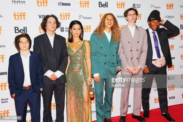 Sunny Suljic Gio Galicia Alexa Demie Olan Prenatt Ryder McLaughlin and Nakel Smith attend the Mid90s premiere during 2018 Toronto International Film...