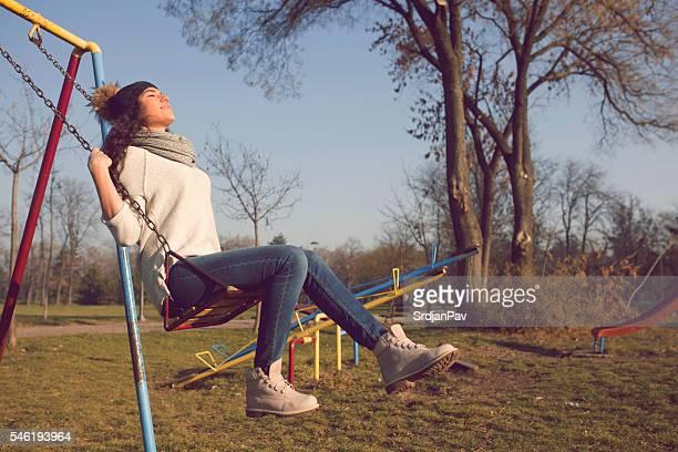 Sunny swinging