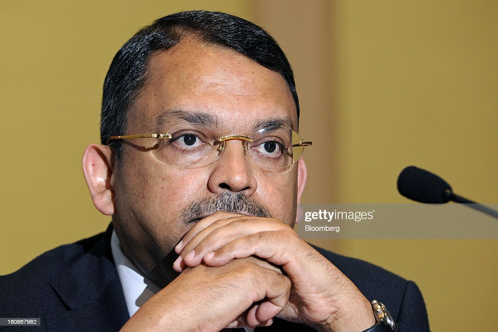 Sunny Verghese, group managing director and chief executive officer of Olam International Ltd., pauses during a news conference in Singapore, on Thursday, Feb. 7, 2013. Olam International Ltd., the commodity trader targeted by short-seller Carson Block, reported the highest quarterly profit since 2010 and said it's reviewing operations including spending plans. Photographer: Munshi Ahmed/Bloomberg via Getty Images