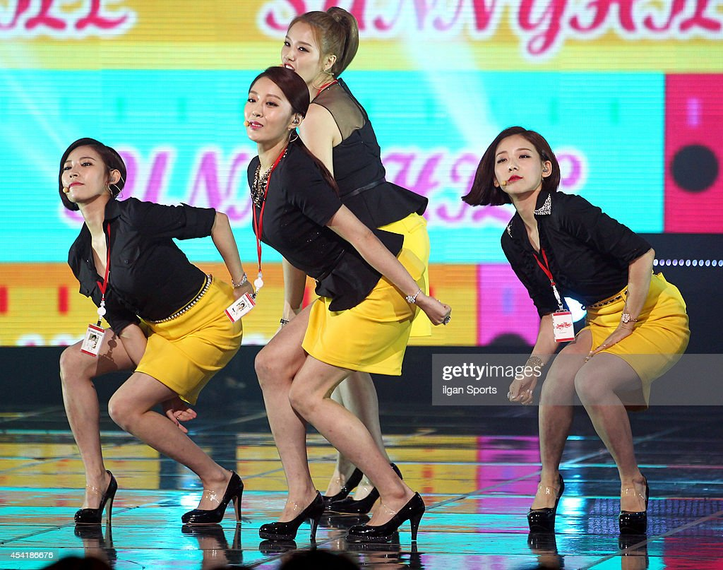 SunnyHill perform onstage during the Mnet 'M Count Down' at CJ E&M center on August 21, 2014 in Seoul, South Korea.