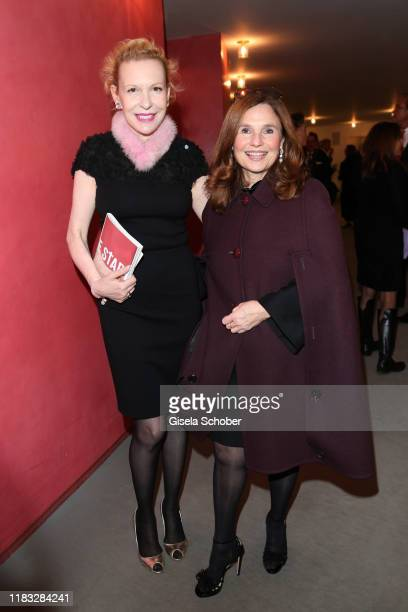 Sunnyi Melles and Judith Epstein at the opera premiere of Die tote Stadt by Erich Wolfgang Korngold at Bayerische Staatsoper on November 18 2019 in...