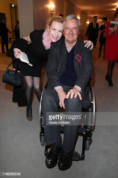 Sunnyi Melles and Prince Peter zu Hohenlohe at the opera premiere of Die tote Stadt by Erich Wolfgang Korngold at Bayerische Staatsoper on November...