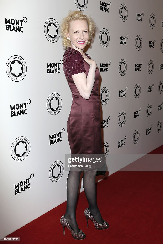 Sunnyi Melles attends the PRIX Montblanc 2012 at the 'Konzerthaus am Gendarmenmarkt' on October 29, 2012 in Berlin, Germany.