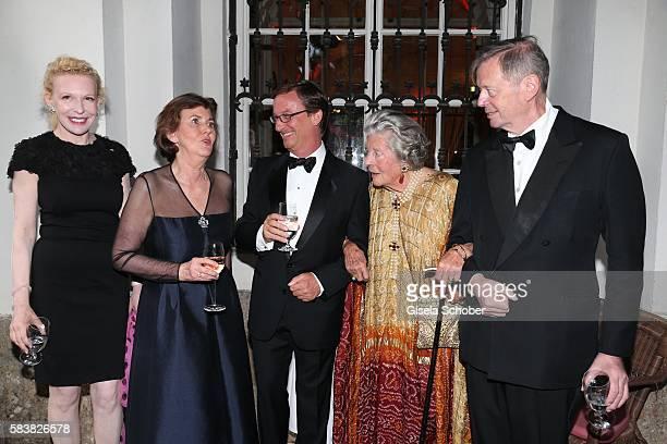 Sunnyi Melles, Helga Rabl-Stadler, Thaddaeus Ropac, Fuerstin 'Manni' Marianne Sayn-Wittgenstein-Sayn, Sayn-Wittgenstein with camera and her son Peter...