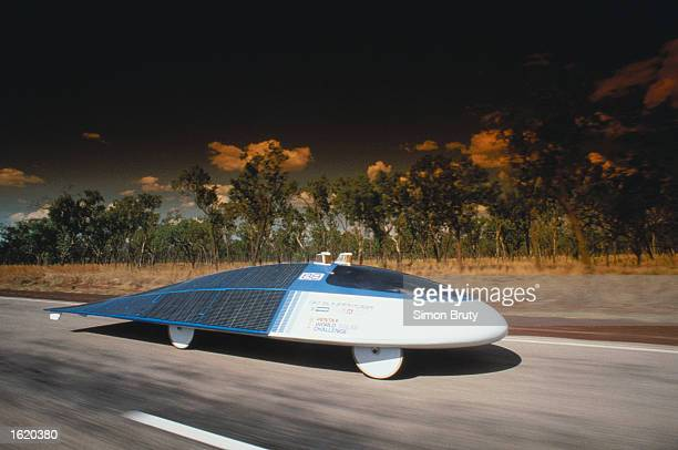 Sunraycer, a solar powered car designed and built by General Motors to win the Pentax World Solar Challenge Race from Darwin to Adelaide in...