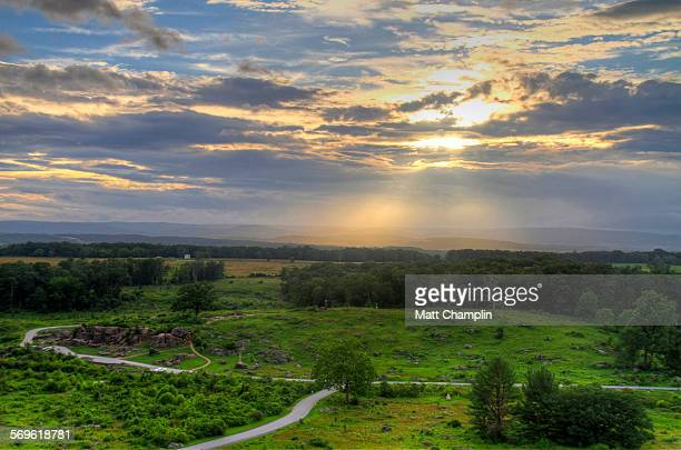 sun-ray's at gettysburg - gettysburg stock photos and pictures
