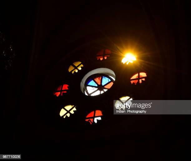 Sunrays into the church