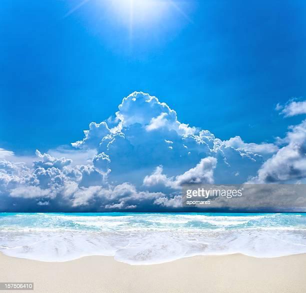 Sonne wecken am Strand