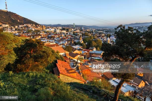 Sunrise above Old Tbilisi
