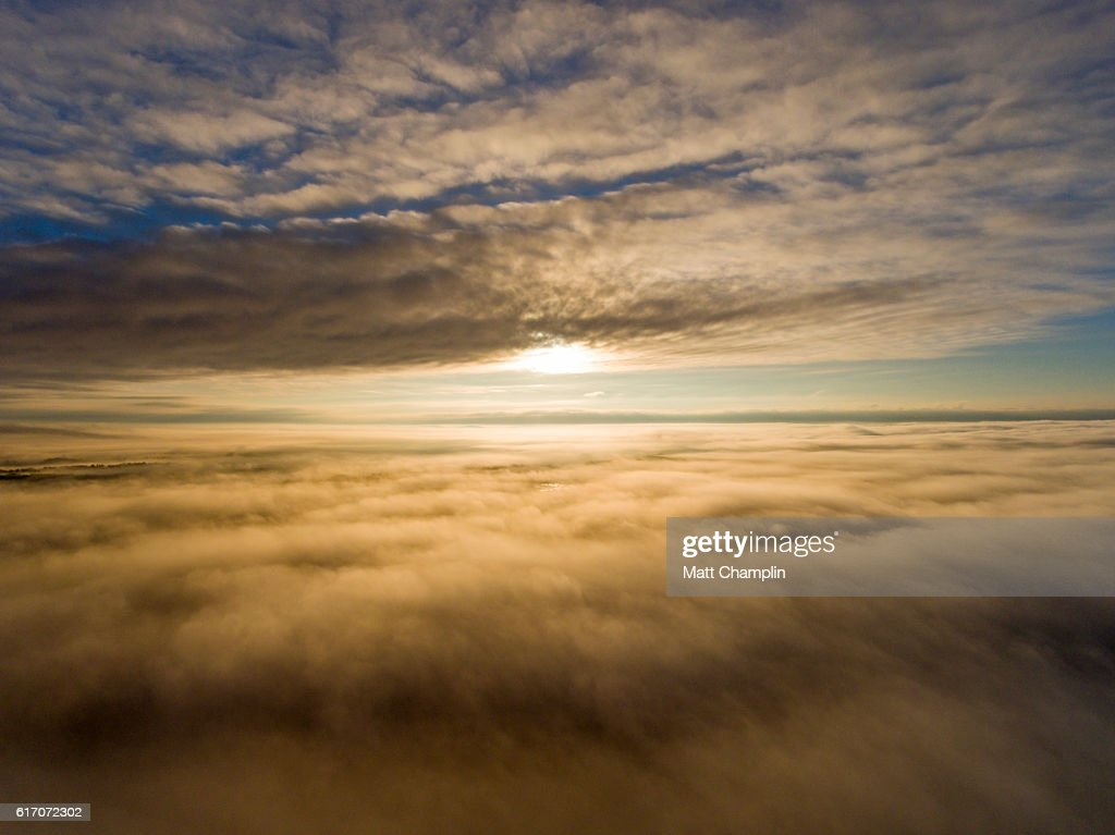 Sunrise above the Clouds : Stock Photo