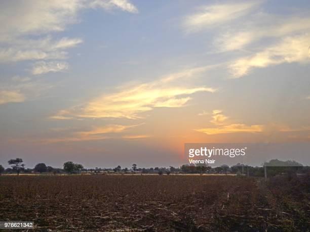Sunrise amongst beautiful clouds/Shirdi