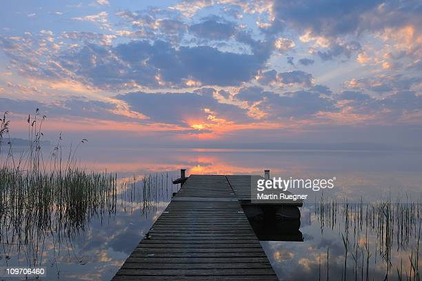 Sunrise and Jetty at the Plauer See (Lake of Plau)