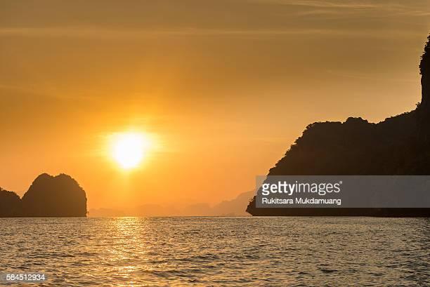 Sunrise and Sea of Thailand.